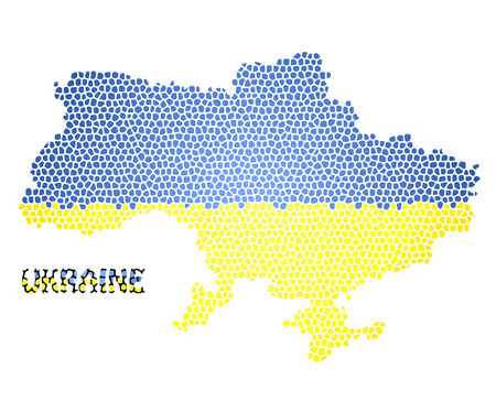 Concept map of Ukraine, vector design Illustration. Ilustrace