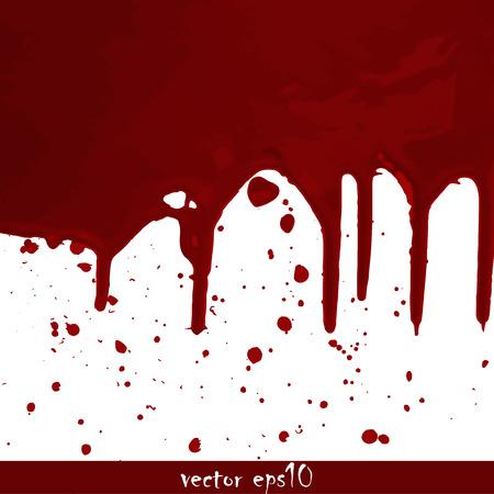 Splattered blood stains - Vector illustration. Ilustrace