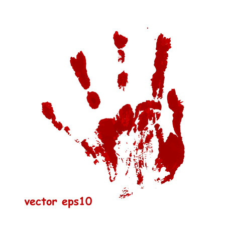 bloody hand print: Bloody hand print - Vector background