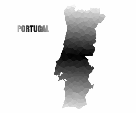 Concept map of Portugal, vector design Illustration.