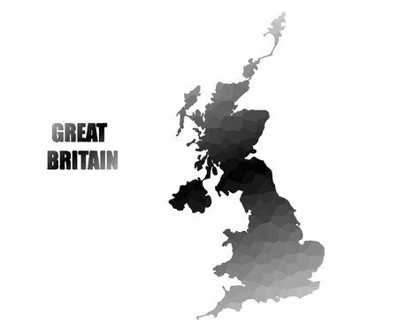 kindom: Concept map of Great Britain , vector design Illustration.