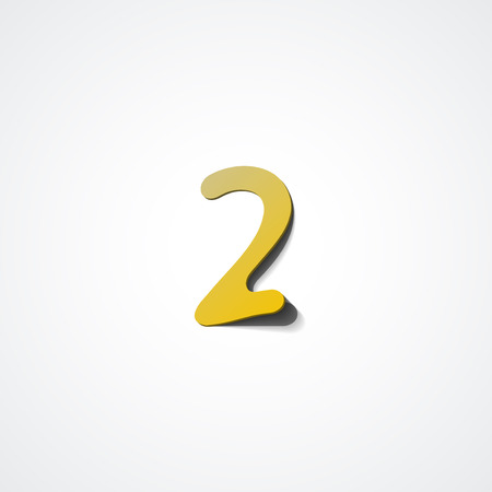 web 2: Web icon illustration, number collection - 2 Illustration