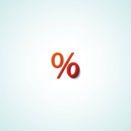 Percentage web icon on white background