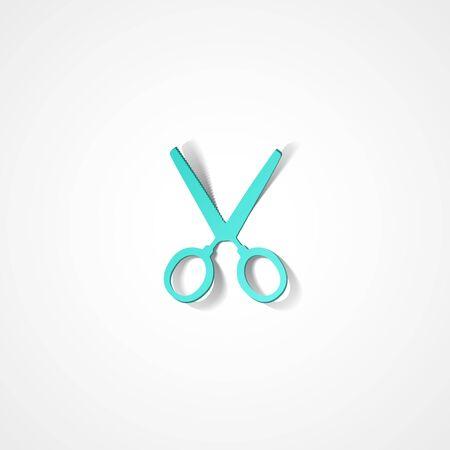 clip art cost: Scissors web icon on white background Illustration