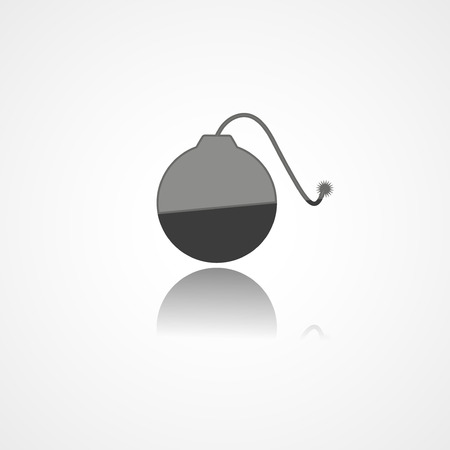 ignited: Bomb web icon on white background Illustration