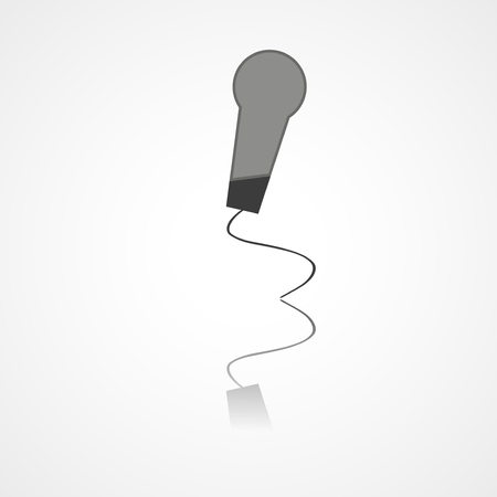 amplify: Microphone web icon on white background