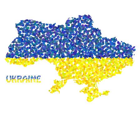 overturn: Concept map of Ukraine, vector design Illustration. Illustration