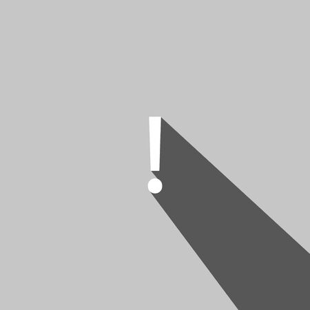 interjection: Exclamation mark  web icon on gray background Illustration