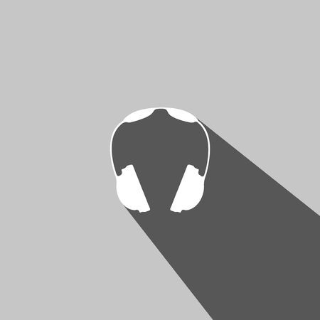 head phones: Headphones web icon on gray background