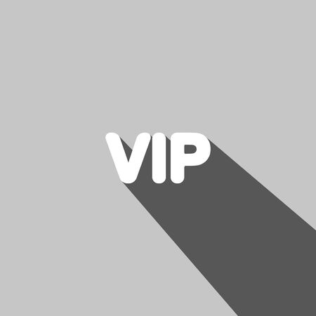 reflexion: VIP web icon on gray background Illustration