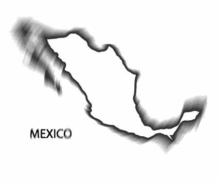 latinoamerica: Concept map of Mexico, vector design Illustration. Illustration