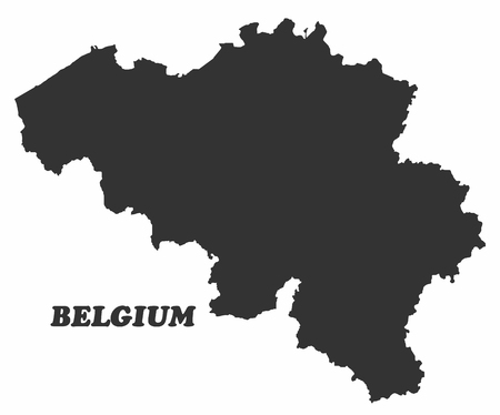 papery: Concept map of Belgium, vector design Illustration.
