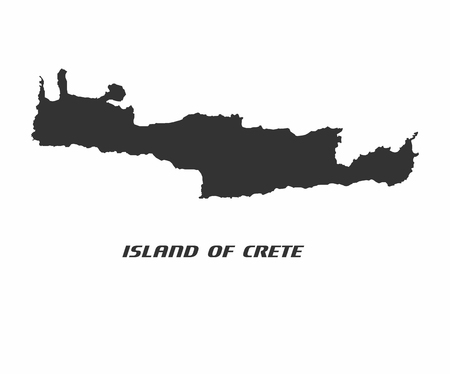corsica: Concept map of Crete, vector design Illustration.