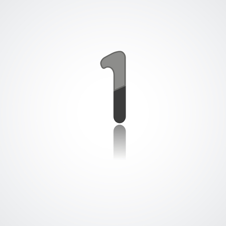 1: Web icon  illustration, number collection - 1