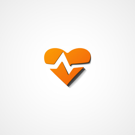taking pulse: Heart Rate web icon on white background