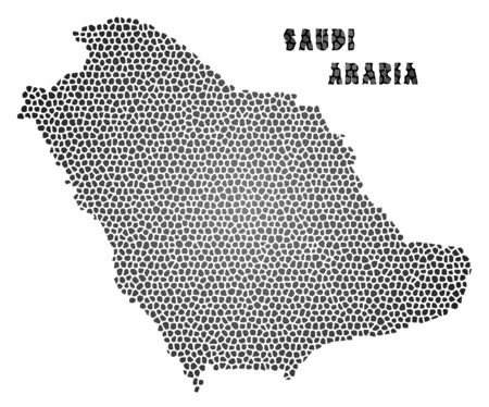 technology transaction: Concept map of Saudi Arabia, vector design Illustration.