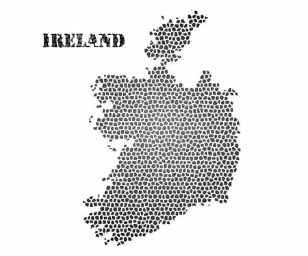 ireland cities: Concept map of Ireland, vector design Illustration.