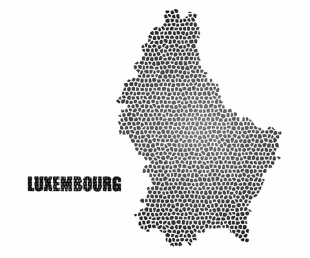 Concept map of Luxembourg, vector design Illustration. Ilustrace