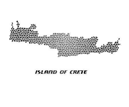 Concept map of Crete, vector design Illustration.