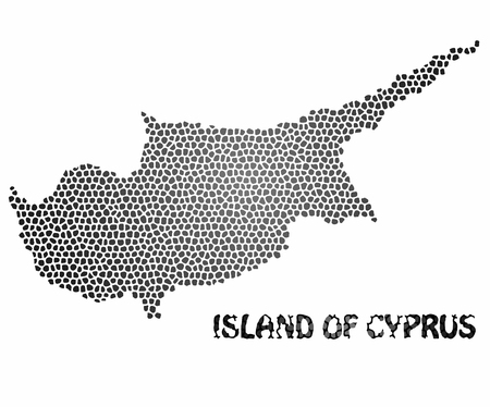 Concept map of Cyprus, vector design Illustration.