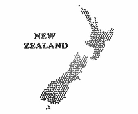 Concept map of New Zealand, vector design Illustration.