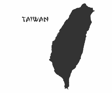 Concept map of Taiwan, vector design Illustration.