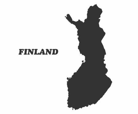 Concept map of Finland, vector design Illustration. Ilustrace