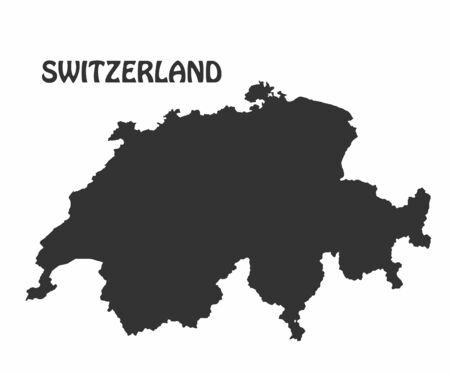 Concept map of Switzerland, vector design Illustration. Ilustrace
