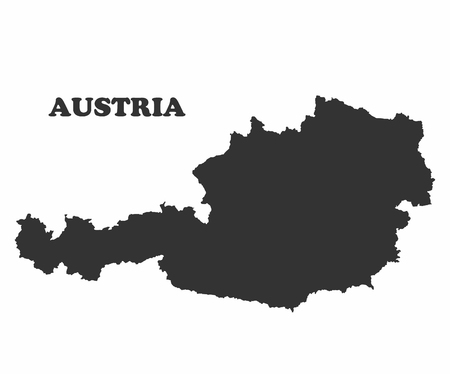 graphical chart: Concept map of Austria, vector design Illustration.