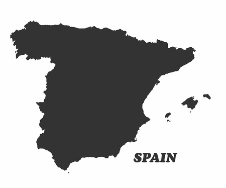 graphical chart: Concept map of Spain, vector design Illustration.