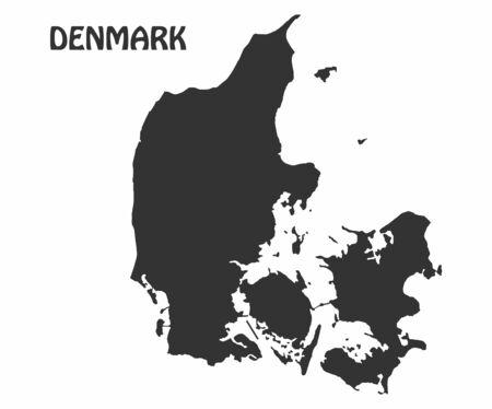 Concept map of Denmark, vector design Illustration.