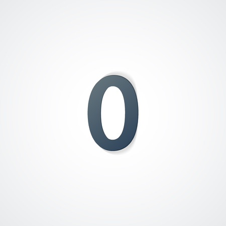Web icon  illustration, number collection - 0