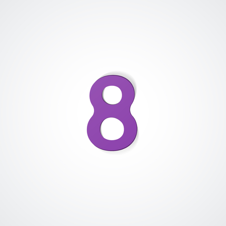 Web icon illustration, number collection - 8