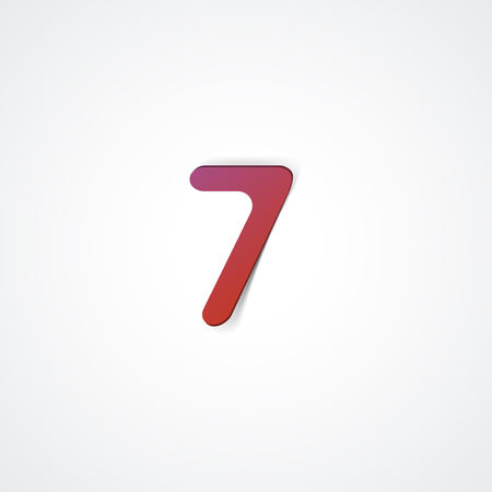 Web icon illustration, number collection - 7