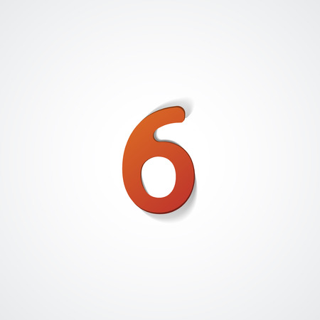 Web icon  illustration, number collection - 6 Ilustrace