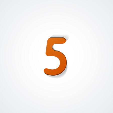 big five: Web icon illustration, number collection - 5 Illustration