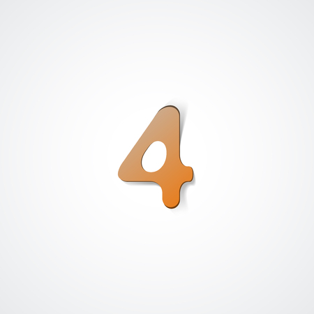 Web icon illustration, number collection - 4 Ilustrace