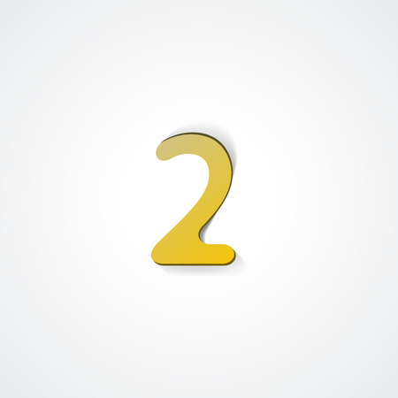 Web icon illustration, number collection - 2 Ilustrace