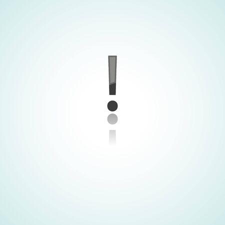 interjection: Exclamation mark  web icon on white background Illustration