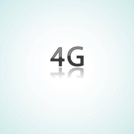 Four G web icon communication on white background Ilustrace
