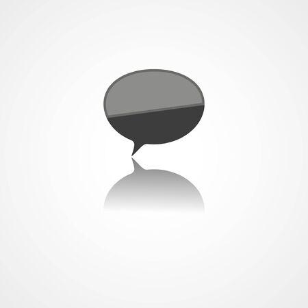 Rounded speech bubbles web icon on white background Ilustrace