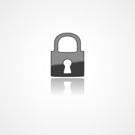 Lock web icon on white background Ilustrace