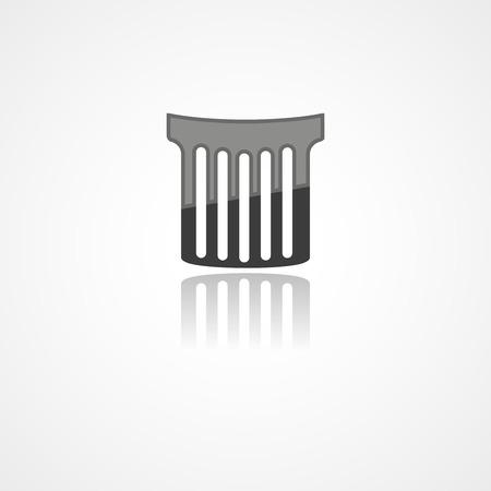 Trash can web icon on white background
