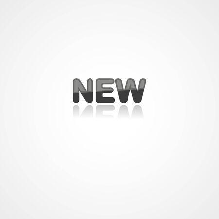 New web icon on white background