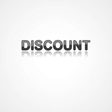 Discount web icon on white background Ilustrace