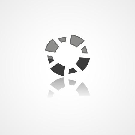 Lifebuoy web icon on white background