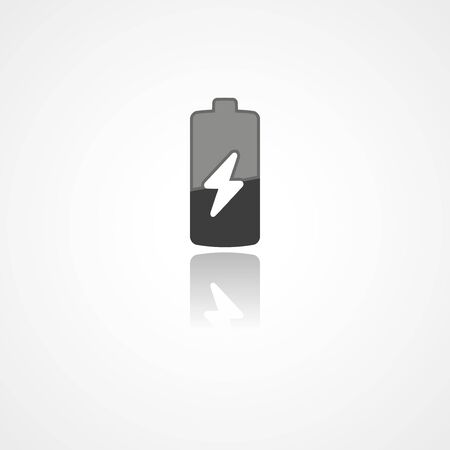 Battery web icon on white background