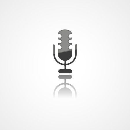 Microphone web icon on white background