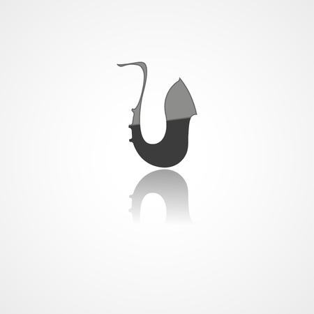 Icône de web de Saxophone sur fond blanc