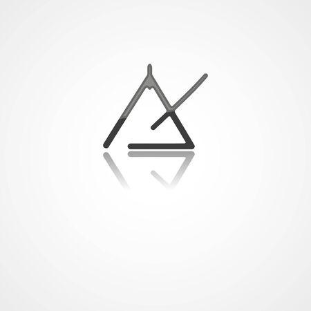Triangle instrument web icon on white background